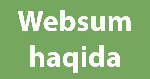 Websum haqida royxatdan otish jarayoni asosiy