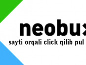 Neobux saytida click qilib pul ishlash
